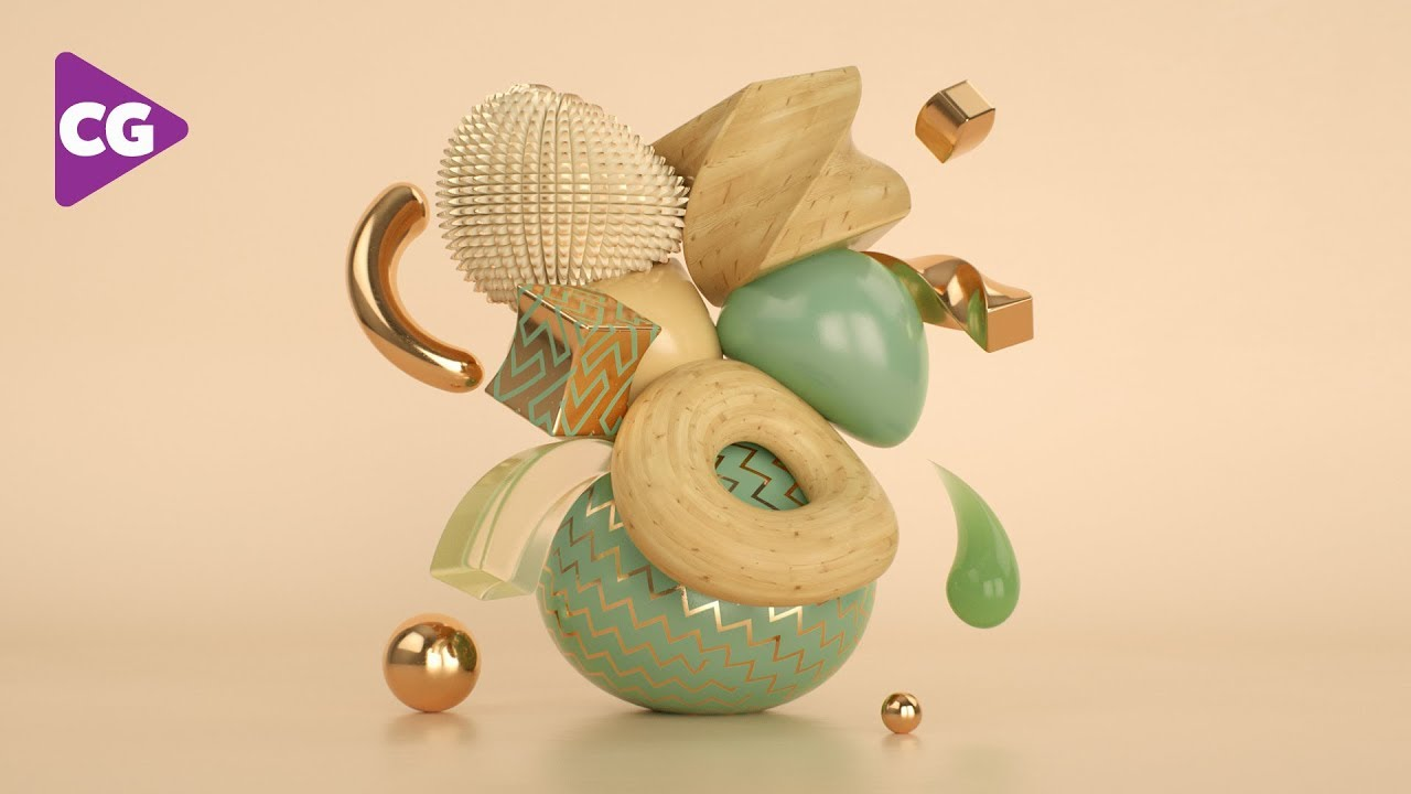 Abstract Art with Deformers in Cinema 4D