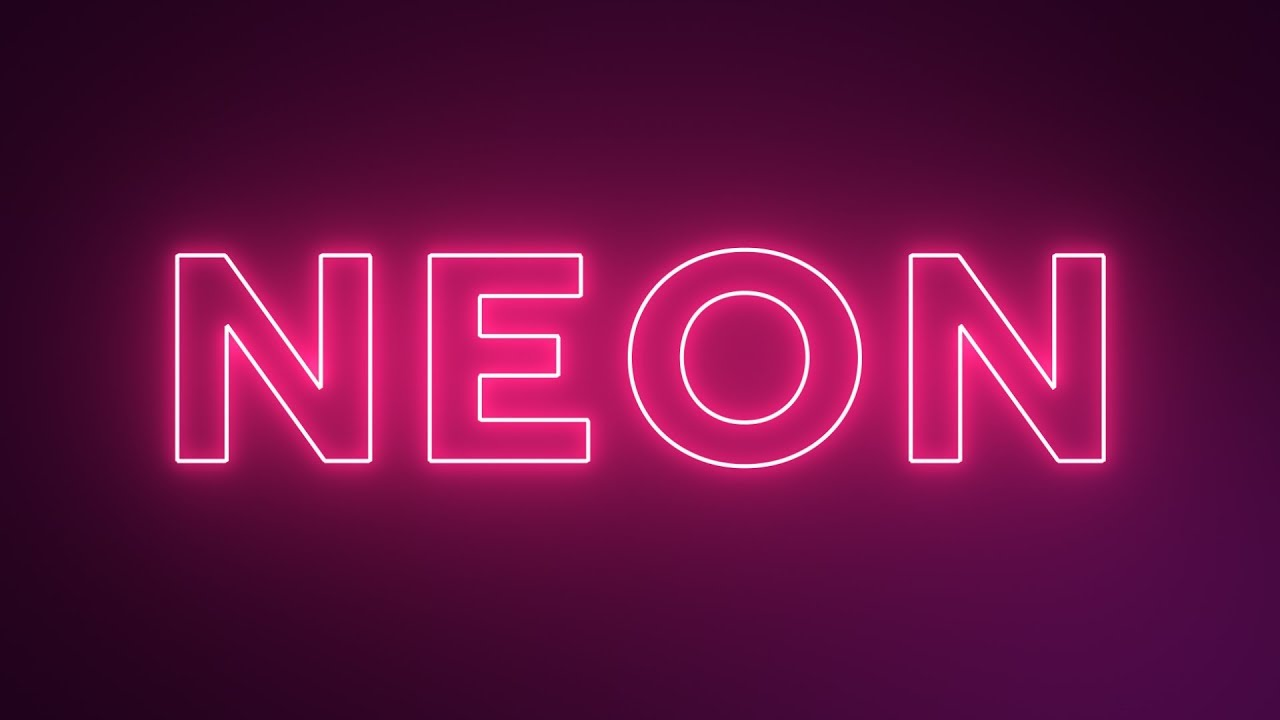 Neon Text Effect in After Effects